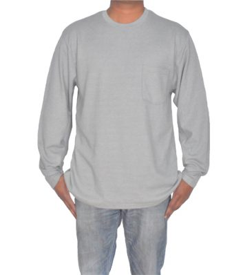 L-S Crew Neck With Front Pocket