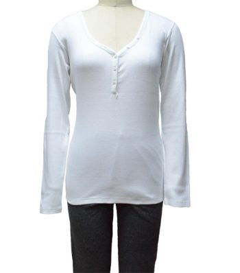 Ladies Long Sleeve Henely Shirt