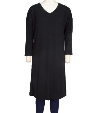 Long Sleeve Long Dress With Back Printing