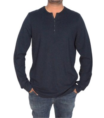 Long Sleeve Notch Neck Tee