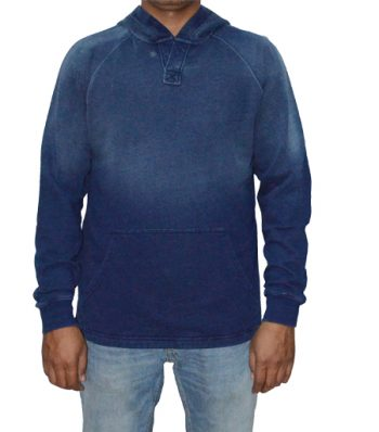 Raglan Long Sleeve Placket Hoody