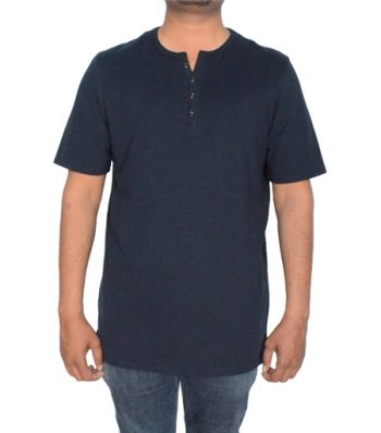 Short Sleeve Notch Neck Tee