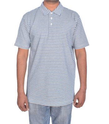 Short Sleeve Polo With Self Collar