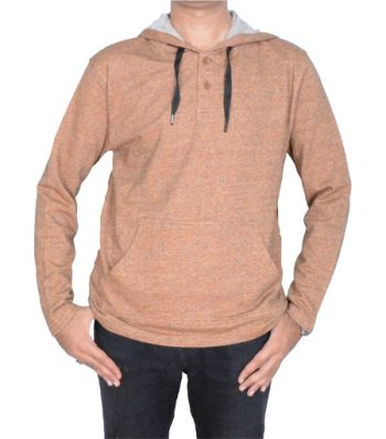 Long Sleeve Placket Hoody