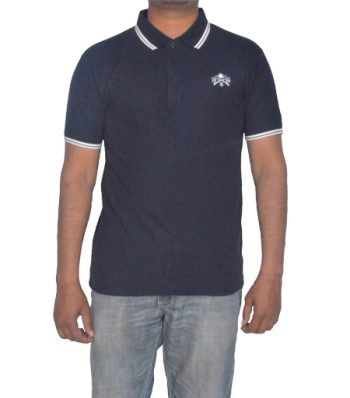 Short Sleeve Polo With Front Chest Embroidery